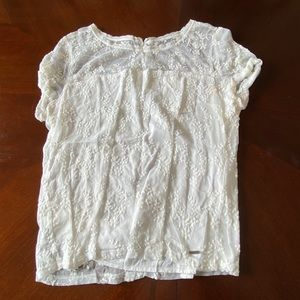 White lace shirt Hollister co